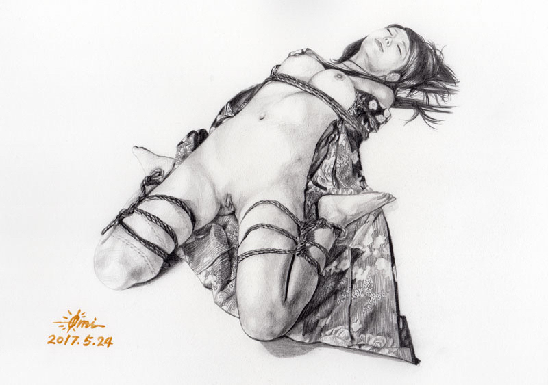 Russian Shibari Rope Bondage